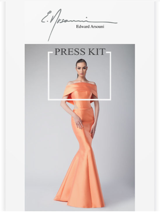 Edward Arsouni Couture Press Kit